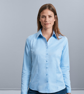 Russell Ladies Long Sleeve Herringbone Shirt