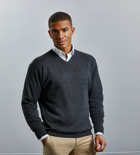 Russell V-Neck Knitted Pullover