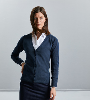 Russell Ladies V-Neck Cardigan