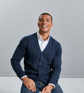 Russell Mens V-Neck Knit Cardigan