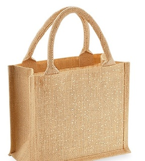 Westford Mill W431 Shimmer Jute Mini Gift Bag