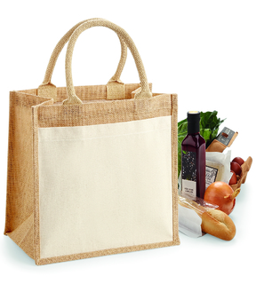 Westford Mill W426 Cotton Pocket Jute Midi Tote