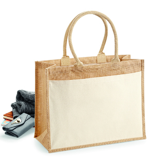 Westford Mill W427 Cotton Pocket Jute Shopper