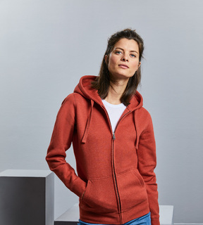 Russell Ladies Authentic Melange Zipped Hooded Sweat