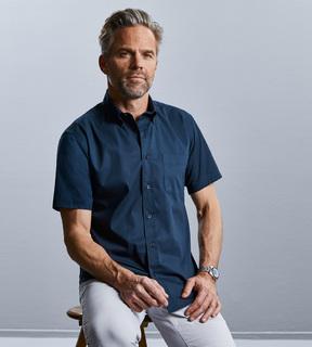 Russell Men's Short Sleeve Classic Twill Shirt