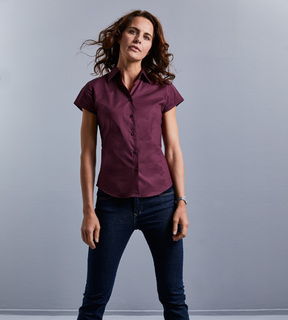 Russell Ladies' Short Sleeve Fitted Stretch Shirt