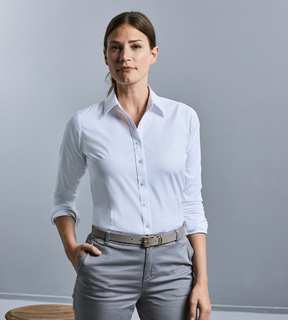 Russell Ladies' Long Sleeve Tailored Coolmax® Shirt