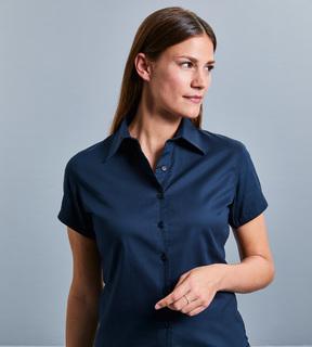 Russell Ladies Short Sleeve Classic Twill Shirt