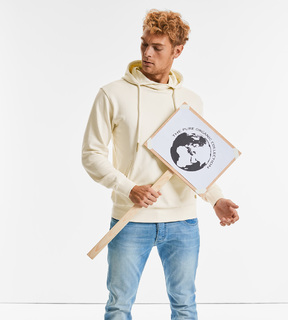 Russell Pure Organic High Collar Hooded Sweat