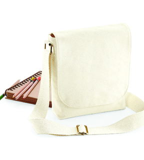 Westford Mill Fairtrade Cotton Canvas Mini Messenger